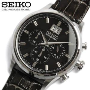 【送料無料】【セイコー】【SEIKO】 腕時計 クロノグラフ メンズ SPC081P1 Men's ウォッチ うでどけい レザー 革ベルト 男性用 10気圧防水 by CAMERON