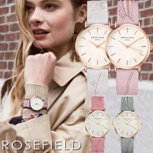 ROSE FIELD ローズフィールド City Bloom 腕時計 ウォッチ レディース 女性用 革ベルト 刺繍 33mm by CAMERON
