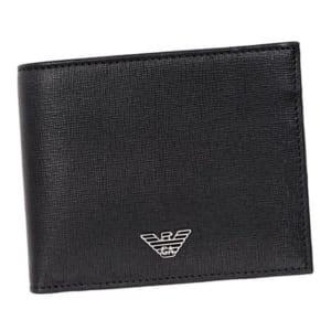 アルマーニ ロゴプレート付き二つ折り財布