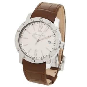 ブルガリ 時計 BVLGARI BB39WSLD ブルガリブルガリ 自動巻き メンズ腕時計 ウォッチ ホワイト/シルバー by ブランドショップAXES(日本流通自主管理協会会員)
