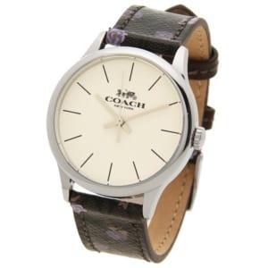 コーチ 時計 COACH W1546 SVOKK RUBY 32MM シグネチャー フラワー アウトレット レディース腕時計ウォッチ カーキ/シルバー by ブランドショップAXES(日本流通自主管理協会会員)