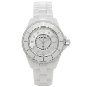 シャネル 時計 CHANEL H2422 J12 ジェイトゥエルヴ 33mm Qu 8Pダイヤ MOP レディース腕時計ウォッチ ホワイト by ブランドショップAXES(日本流通自主管理協会会員)