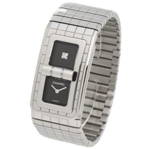 シャネル 時計 CHANEL H5144 CODE COCO コードココ 30M防水 ダイヤモンド クオーツ レディース腕時計ウォッチ シルバー/ブラック by ブランドショップAXES(日本流通自主管理協会会員)