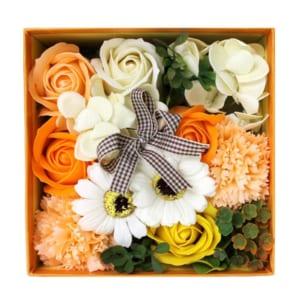 【送料無料】 誕生日プレゼント 花の入浴剤 バスフレグランスボックスアレンジ ソープフラワー