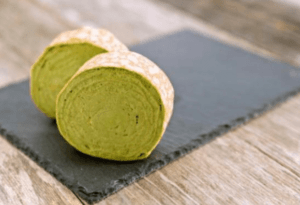 京都の宇治抹茶を使用!ふんわり柔らかいミルクレープロール 抹茶(1本)