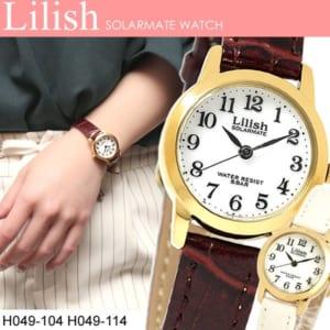 CITIZEN lilish シチズン リリッシュ ソーラー レディース 女性用 腕時計 ウォッチ 5気圧防水 H049-104 H049-114 ギフト by CAMERON