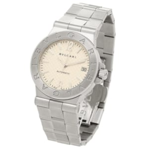 BVLGARI 時計 ブルガリ DG35C6SSD ディアゴノ メンズ腕時計 ウォッチ ホワイト/シルバー by ブランドショップAXES(日本流通自主管理協会会員)