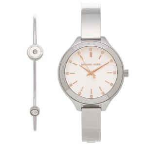 マイケルコース 時計 MICHAEL KORS MK3596 CLASSIC クラシック ブレスレットセット ブレスレット付き レディース腕時計ウォッチ シルバー/ホワイト by ブランドショップAXES(日本流通自主管理協会会員)
