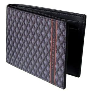 ダンヒル エンジンターン二つ折り財布