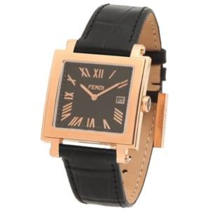 フェンディ 時計 FENDI F604511011 QUADOROMEN クアドロ メンズ腕時計 ウォッチ ブラック by ブランドショップAXES(日本流通自主管理協会会員)
