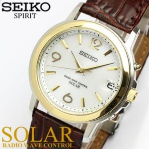 【送料無料】【SEIKO SPIRIT】 セイコー スピリット ソーラー電波腕時計 メンズ 本革レザー 10気圧防水 SBTM192 うでどけい ウォッチ Men's 【国内正規品】 by CAMERON