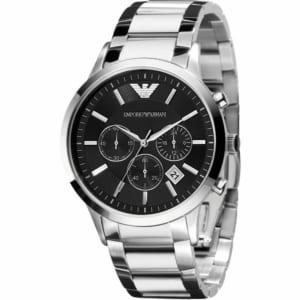 【送料無料♫】EMPORIO ARMANI エンポリオアルマーニ 腕時計 クロノグラフ シルバー メタル メンズ ギフト プレゼント by ブランドギフトショップ ルーチェ