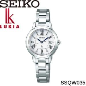 【送料無料】seiko セイコー lukia ルキア Lady Diamond レディダイアモンド 腕時計 ウォッチ レディース ソーラー電波 10気圧防水 デイトカレンダー 日本製 ssqw035 by CAMERON