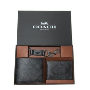 ●ギフトBOX付!! 3点セット!!● コーチ アウトレット COACH 財布 F41346 PVC シグネチャー