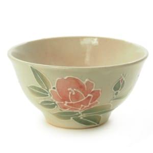 九谷焼ご飯茶碗『金沢のバラ』