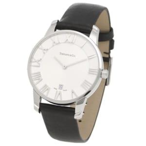 ティファニー 時計 TIFFANY&Co. 34875901 ATLAS アトラス 2ハンド 37.5MM メンズ腕時計 ブラック/シルバー by ブランドショップAXES(日本流通自主管理協会会員)