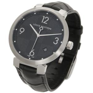 ルイヴィトン 時計 メンズ LOUIS VUITTON Q1D002 タンブールダミエ 腕時計 ウォッチ ブラック by ブランドショップAXES(日本流通自主管理協会会員)
