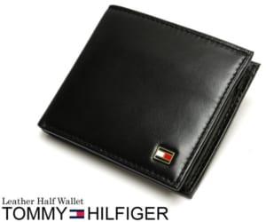 トミーヒルフィガー TOMMY HILFIGER 財布 メンズ 二つ折り財布 二つ折財布 本革 レザー ロゴ ブランド ブラック SAIFU さいふ サイフ Men's by CAMERON