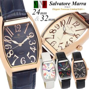 【Salvatore Marra/サルバトーレマーラ】腕時計 メンズ レディース トノー型 革ベルト レザー ウォッチ ブランド ランキング ウォッチ ギフト 父の日 ギフト by CAMERON