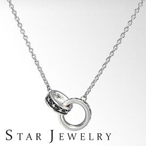 スタージュエリー ネックレス シルバー レディース シンプル 星 リングSV925 STAR JEWELRY ギフト プレゼント 記念日 2SN1523 by コレカラスタイル Corekara Style