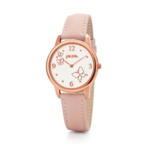 2年保証 FolliFollie フォリフォリ 腕時計 レディース Wonderfly WF17R030SPS WF17R030SPS-PI ローズゴールド ピンク レザー クォーツ 電池式 by 光雅晶