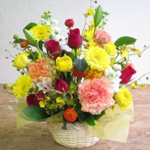 花 フラワーアレンジメント 誕生日プレゼント アレンジメント 横30㎝、縦40㎝