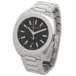 グッチ 時計 GUCCI YA142201 GG2570 メンズ腕時計 ウォッチ ブラック/シルバー by ブランドショップAXES(日本流通自主管理協会会員)