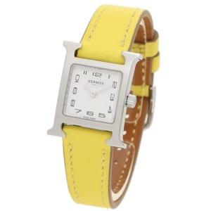 エルメス 時計 HERMES W038956WW00 HH1.110.131/WW9R HウォッチTPM レディース腕時計ウォッチ ライムイエロー/シルバー by ブランドショップAXES(日本流通自主管理協会会員)
