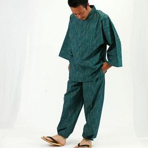 【名入れ】日本製 久留米織の夏作務衣 綿100%(3色/S・M・L・LL・3L)[期間限定送料無料] by 作務衣ときもの専門店都屋