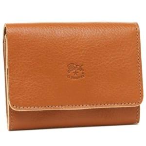 イルビゾンテ ロゴ型押し二つ折り財布