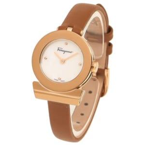 サルヴァトーレフェラガモ 時計 Salvatore Ferragamo F43070017 GANCINO ガンチーニ STRAP レディース腕時計ウォッチ ブラウン/パール/ローズゴールド by ブランドショップAXES(日本流通自主管理協会会員)