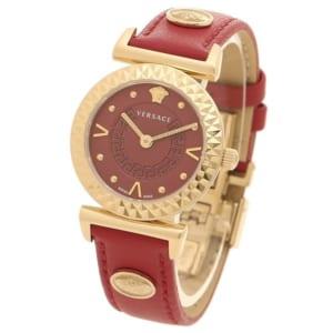 ヴェルサーチ 時計 VERSACE VEAA00318 MINI VANITY レディース腕時計ウォッチ レッド/ローズゴールド by ブランドショップAXES(日本流通自主管理協会会員)