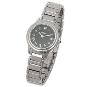 フェンディ 時計 FENDI F251021000 クラシコラウンド  レディース腕時計ウォッチ ブラック/シルバー by ブランドショップAXES(日本流通自主管理協会会員)