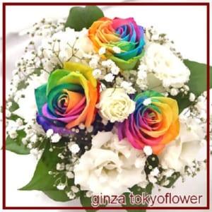 レインボーローズ 虹色のバラ