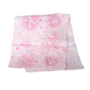 ★やわらかくて肌にやさしい綿100%ガーゼ織り手ぬぐい★ガーゼ手ぬぐい ハンカチ サクラ2(ピンク) 日本製 和柄 by WYNNKENGEOFU