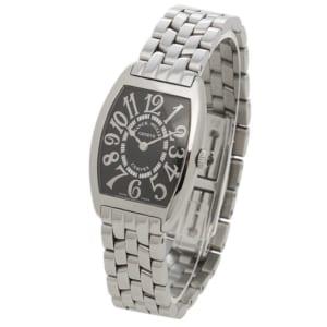 フランクミュラー 時計 FRANCK MULLER 1752QZOAC トノーカーベックス トノウカーベックス レディース腕時計ウォッチ シルバー/ブラック by ブランドショップAXES(日本流通自主管理協会会員)