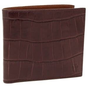 フェリージ クロコダイル型押し二つ折り財布