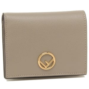 フェンディ メタルロゴ付き二つ折り財布