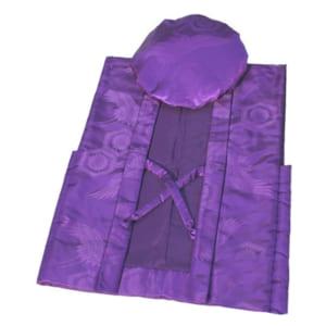 ちゃんちゃんこ フリーサイズ 紫色 鶴亀甲柄