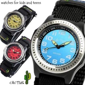 【CACTUS】 カクタス 100M防水 ビーチコレクション ナイロンベルト マジックテープ キッズウォッチ 腕時計 ボーイズ CAC-45 Boy's Kids 子供用 by CAMERON