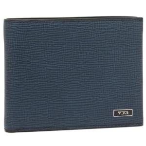 トゥミ ロゴプレート付き二つ折り財布
