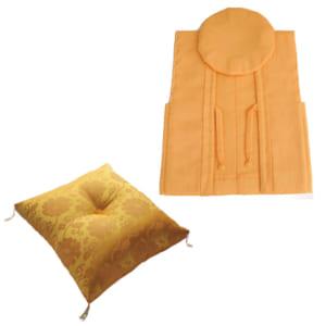 黄色ちゃんちゃんこ 米寿祝い用座布団セット