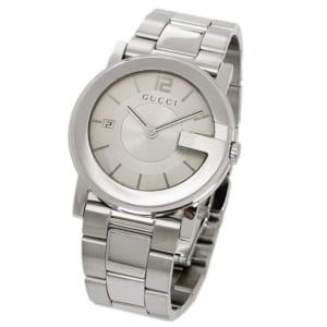 グッチ GUCCI 時計 腕時計 GUCCI グッチ Gラウンド ホワイト/シルバー メンズ/ボーイズ 腕時計 YA101406 ウォッチ WATCH by ブランドショップAXES(日本流通自主管理協会会員)