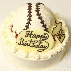 野球ボールケーキ