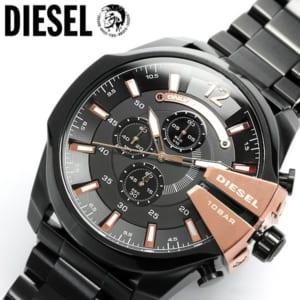 【DIESEL/ディーゼル】 腕時計 メンズ クロノグラフ DZ4309 ブラック×ゴールド メタルベルト 多針アナログ表示 MEN'S うでどけい ウォッチ 人気 ブランド by CAMERON