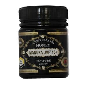 マヌカハニー MANUKA ハチミツ 蜂蜜 はちみつ 健康食品 風邪予防 インフルエンザ予防 口臭予防 のどの改善 抗菌活性 UMF リキュール 瓶 ニュージーランド 250g 250mg 10+ 250+ 100% MHL-001-10 by BJ DIRECT