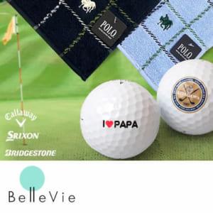 名入れゴルフボール&POLOタオルハンカチギフトセット 【名入れゴルフボール】【オリジナルゴルフボール】【父の日】【誕生日】【敬老の日】 by Belle Vie