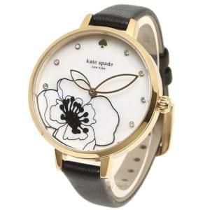 ケイトスペード 時計 KATE SPADE KSW1480 METRO メトロ フラワー レディース腕時計ウォッチ ブラック/イエローゴールド by ブランドショップAXES(日本流通自主管理協会会員)