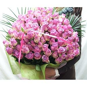 紫バラの花束1本480円(20本より) by 花束・バラ・花卸販売サンモクスイ