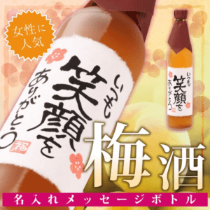【手書きラベル】名入れ梅酒 メッセージボトル 500ml (寿海酒造)【大賞受賞】